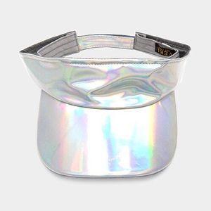 Hologram Silver Fashion Visor...Color: Silver